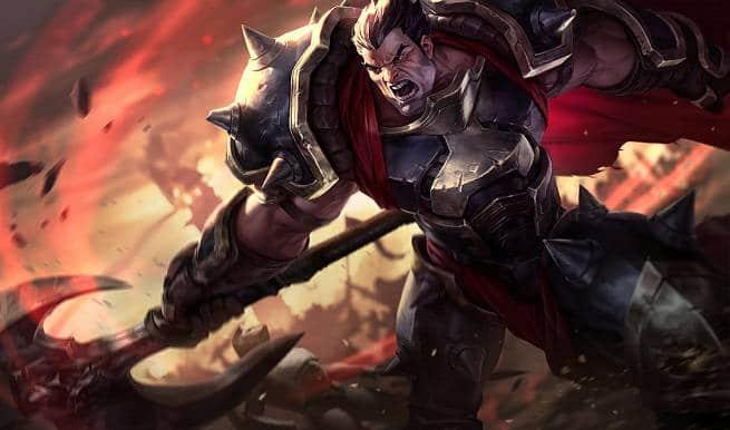 League of Legends Darius Splash Art
