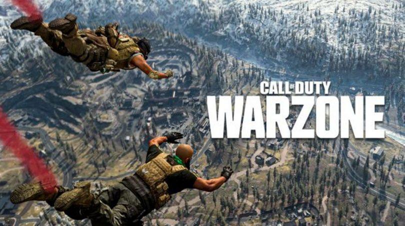 cod warzone atterraggio
