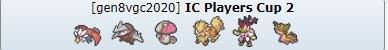 Pokémon Players Cup 2 IC vgc 2020 report team