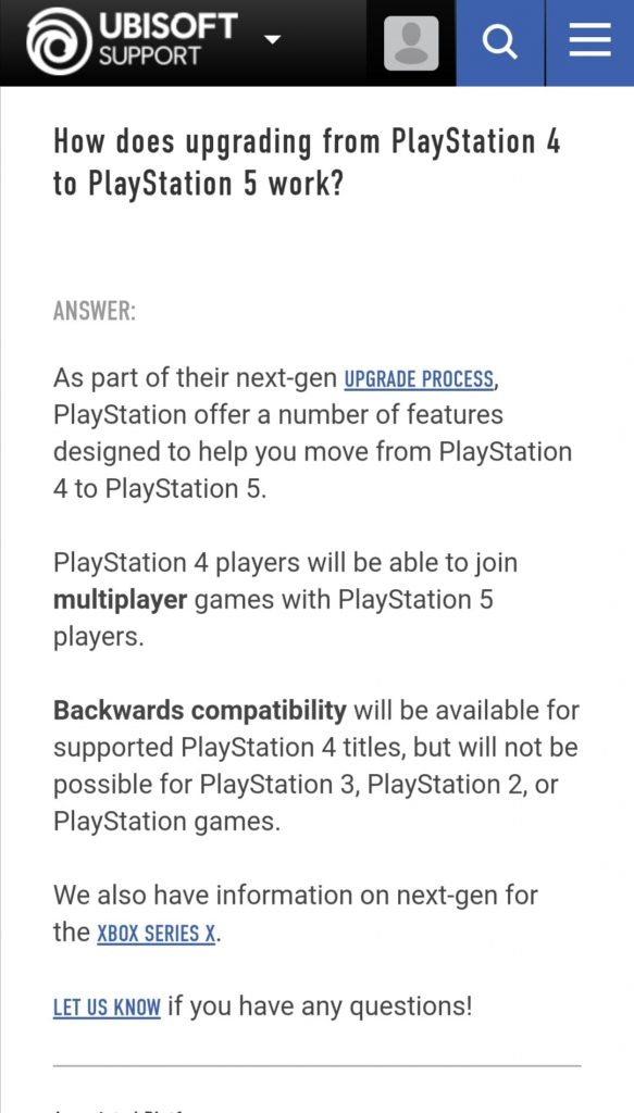 playstation 5 ubisoft retrocompatibilità