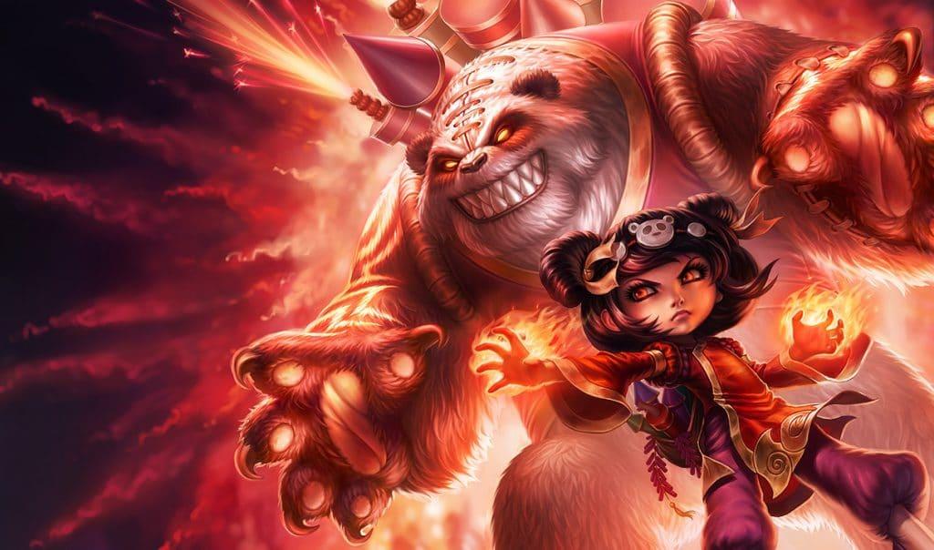 Annie build skin annie Panda splash art