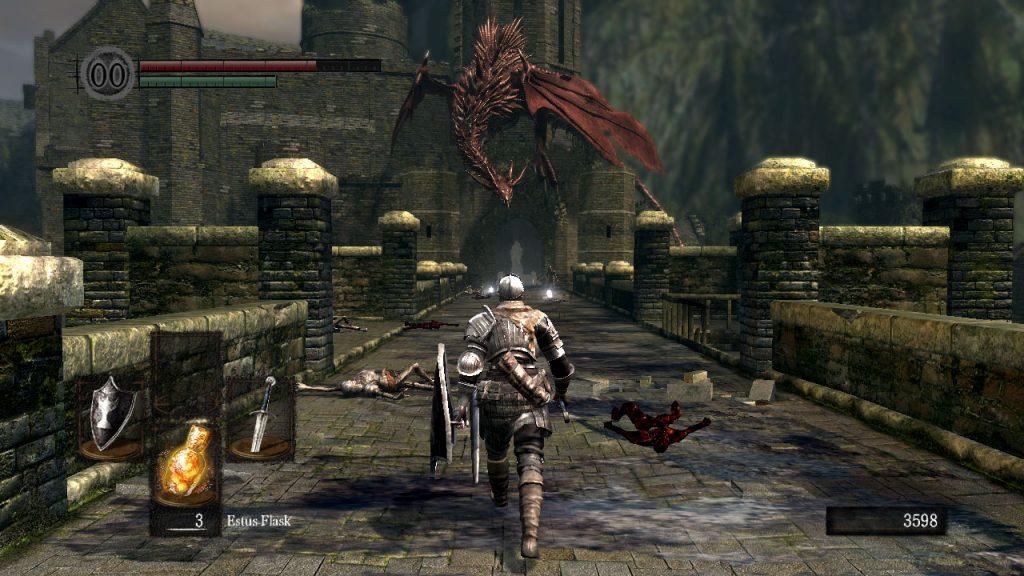 Dark Souls ponte della viverna borgo dei non morti