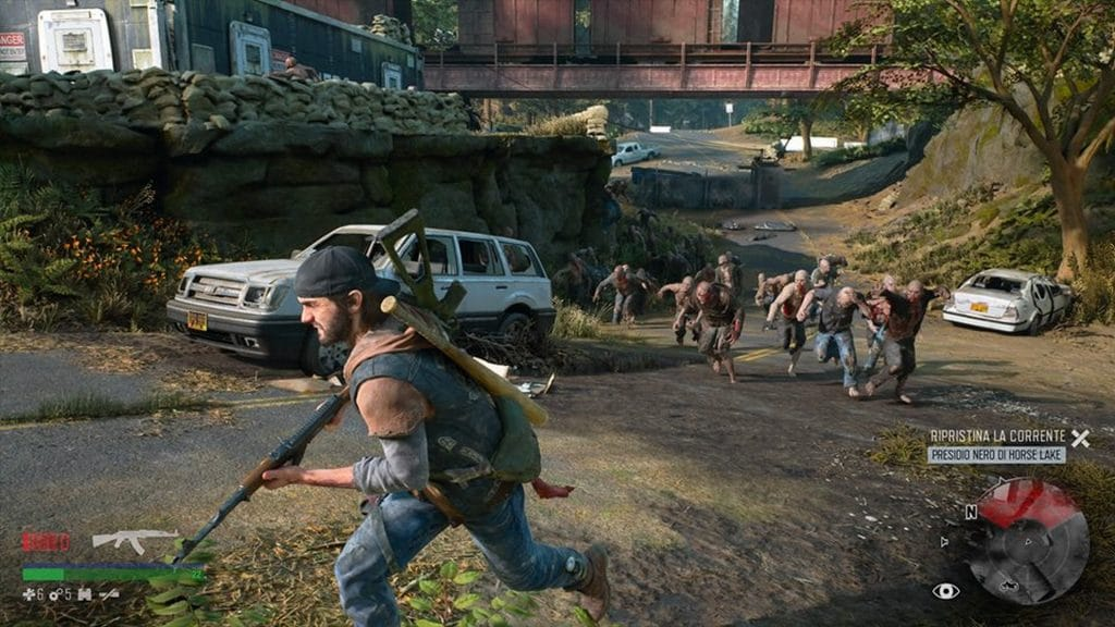 days gone gameplay playstation 5 60 fps