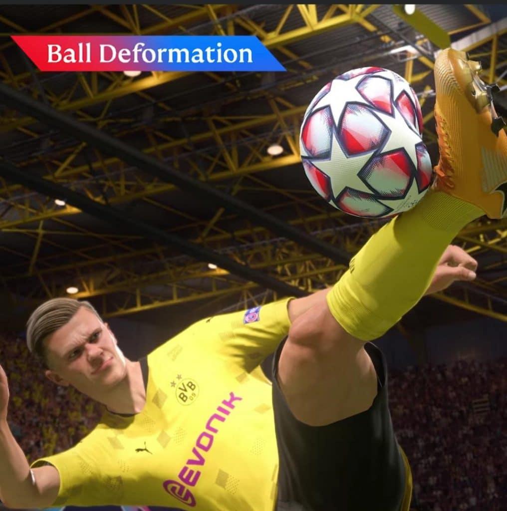 FIFA 21 ball deformation trailer