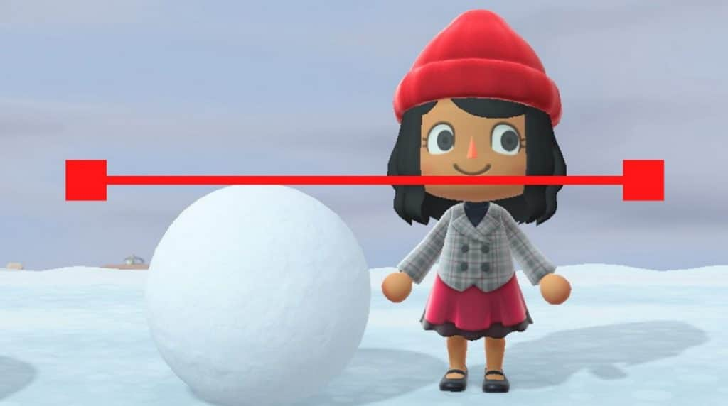 animal crossing come creare pupazzo neve