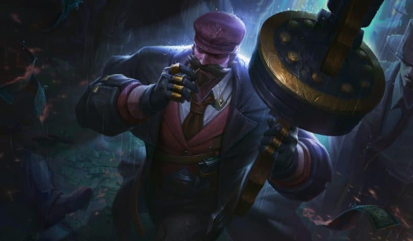 LoL Wild Rift Graves Mafioso Splash Art