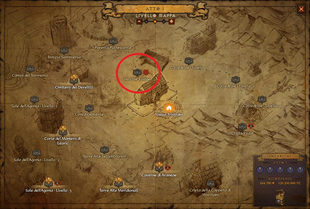 oscuramento tristram mappa diablo
