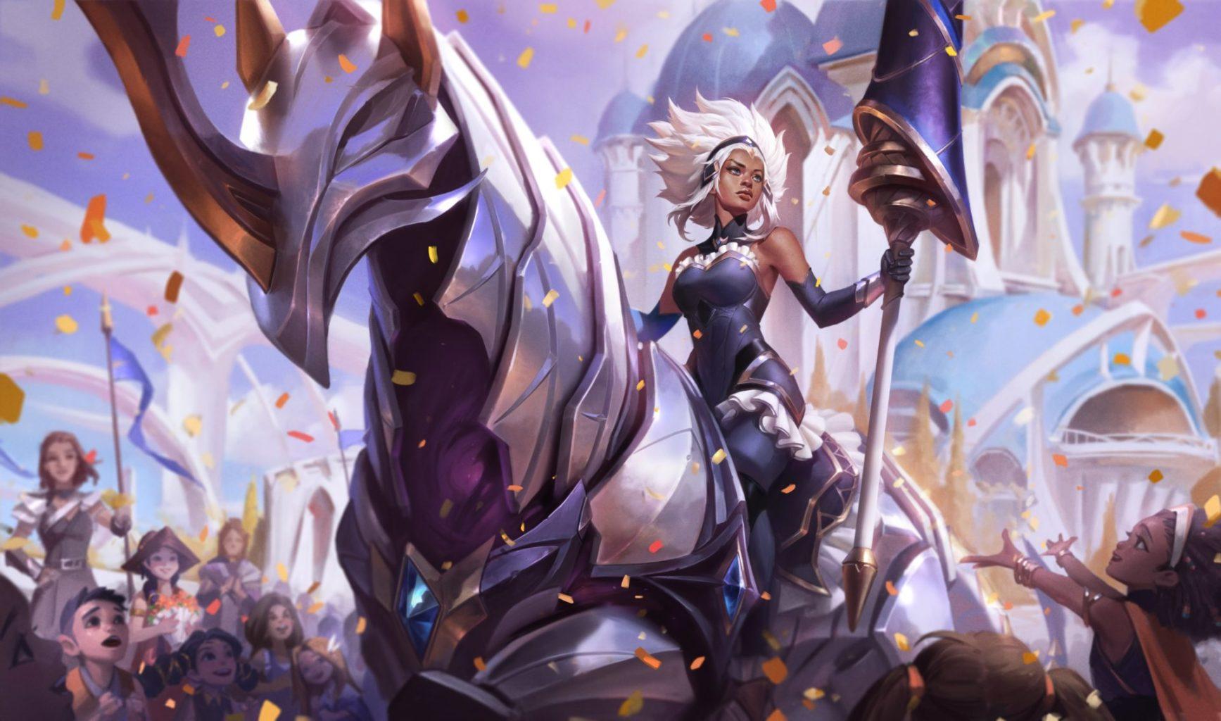 Rell Regina da Battaglia Splash Art tft comp