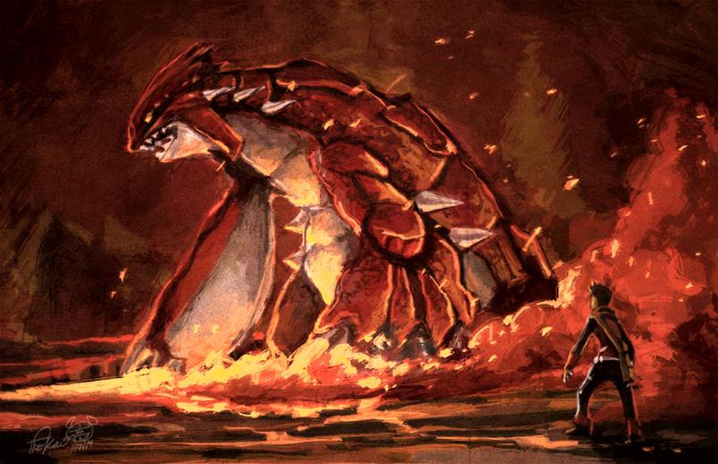 Groudon pokemon vgc fan art TheK40