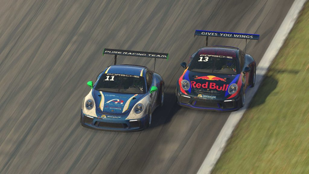 Twitch iRacing duello
