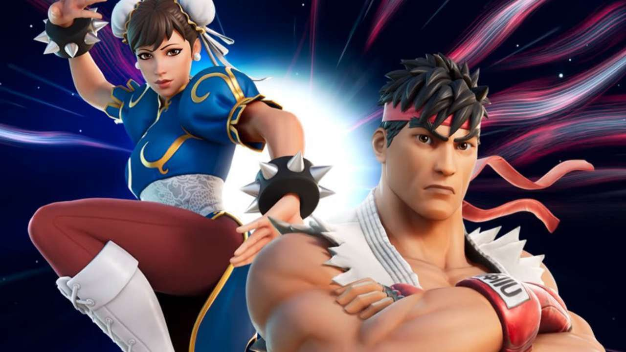 fortnite street fighter chun li ryu