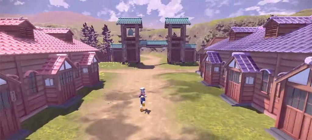leggende pokémon arceus villaggio feudale