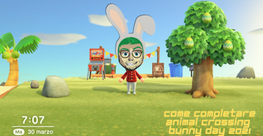 come completare l'animal crossing bunny day 2021