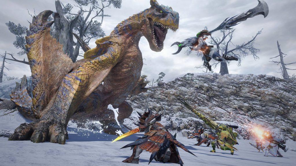 come giocare online su monster hunter rise tigrex cacciatori alberi