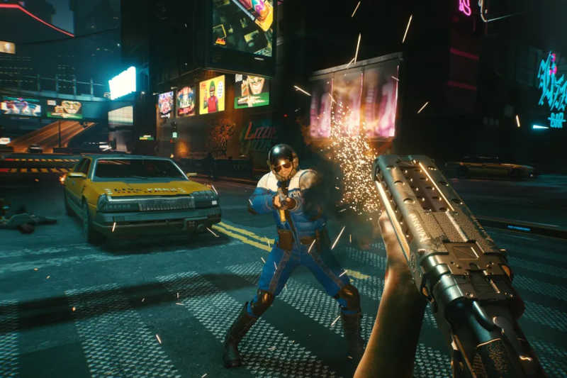 cyberpunk 2077 update macchina personaggio fucile