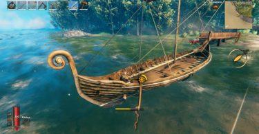 sci nautico valheim barca acqua alberi