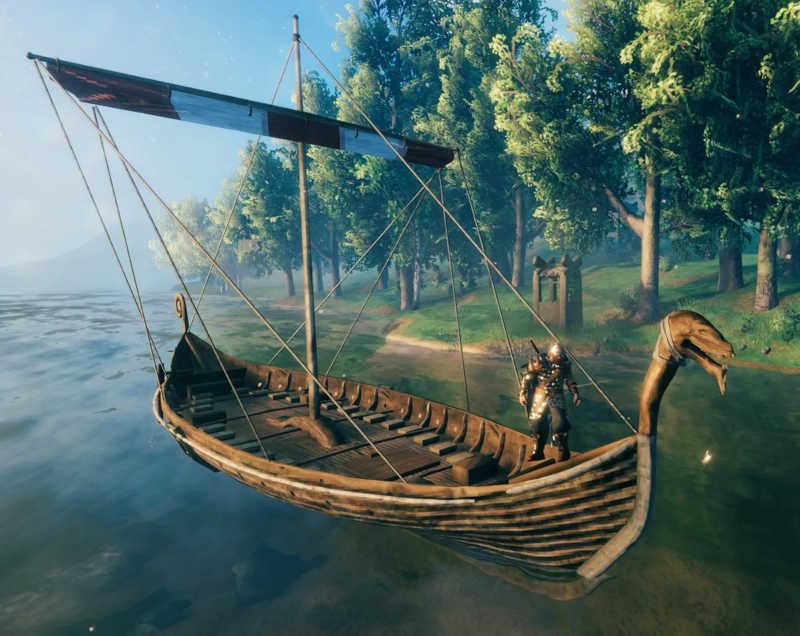 sci nautico valheim barca personaggio