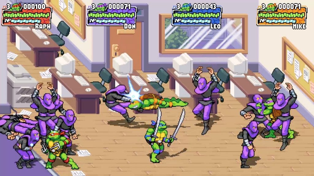 videogioco tartarughe ninja personaggi computer sedia