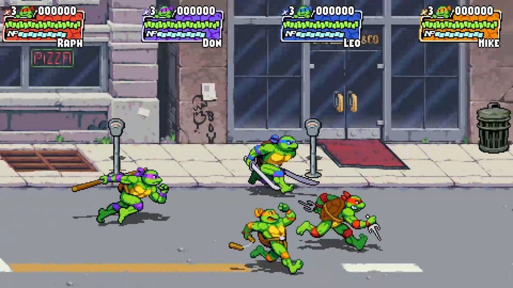 videogioco tartarughe ninja strada personaggi bidone