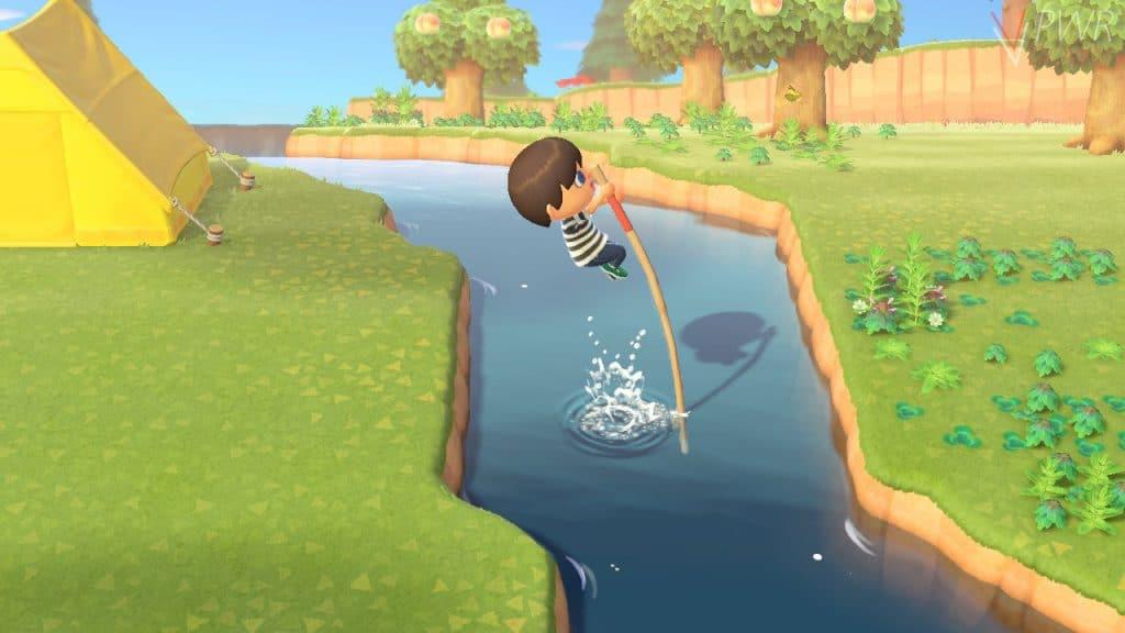 animal crossing update salto fiume
