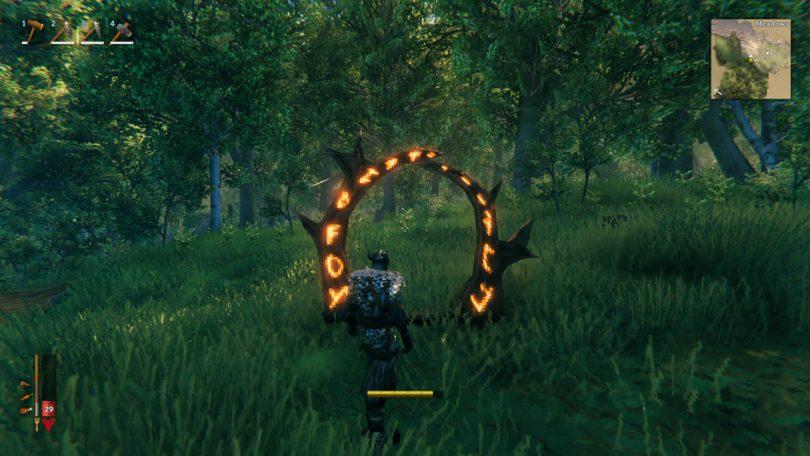 creare i portali su Valheim personaggio erba alberi icone