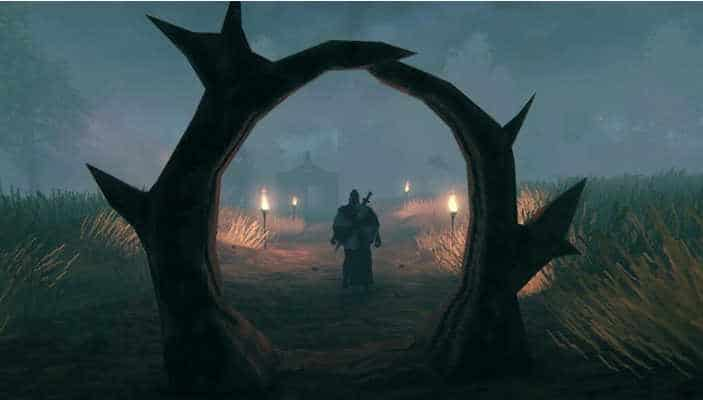 creare i portali su Valheim personaggio erba fiaccole