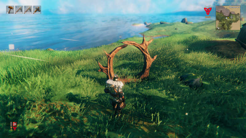 creare i portali su Valheim personaggio erba icone