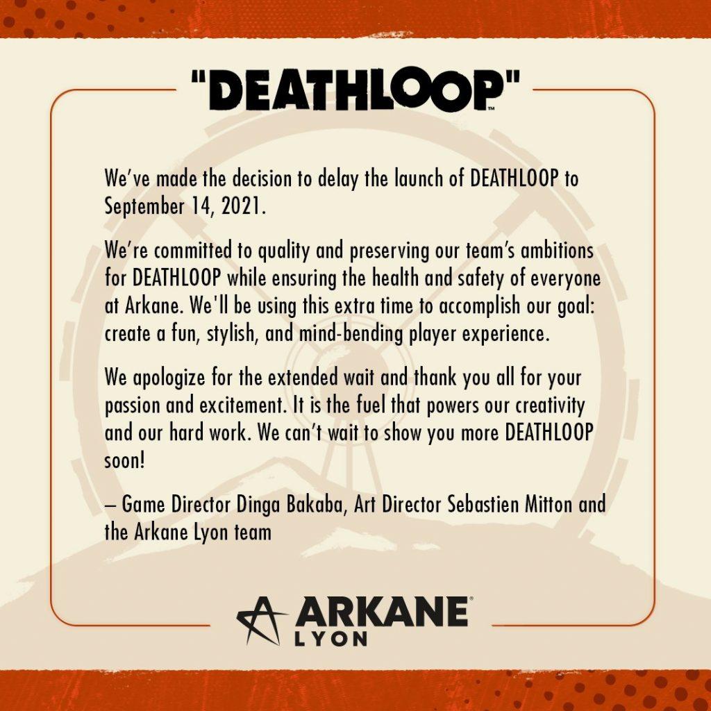 deathloop rimandato messaggio