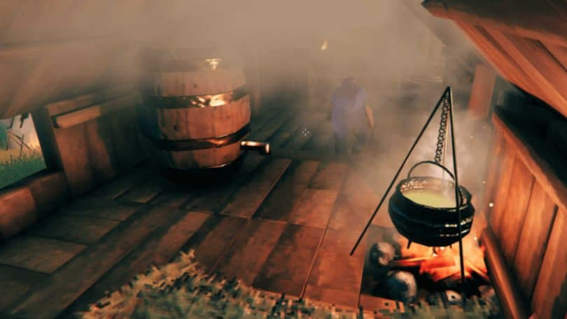 preparare idromele su Valheim calderone fermentatore