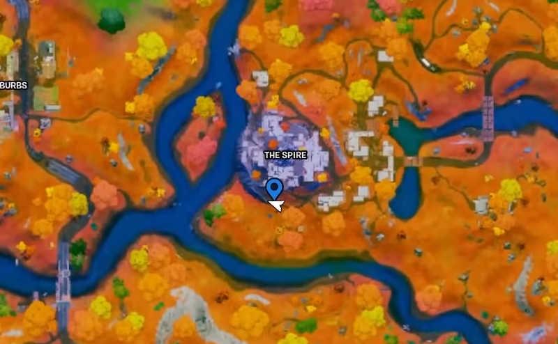 quest della guglia su fortnite mappa segnalino freccia icone