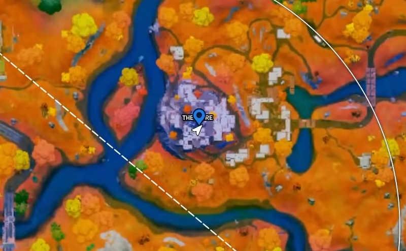 quest della guglia su fortnite mappa segnalino
