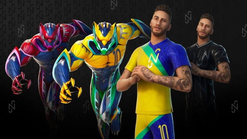 skin di neymar fortnite