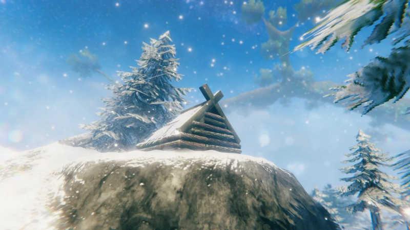 valheim mountain neve alberi casa