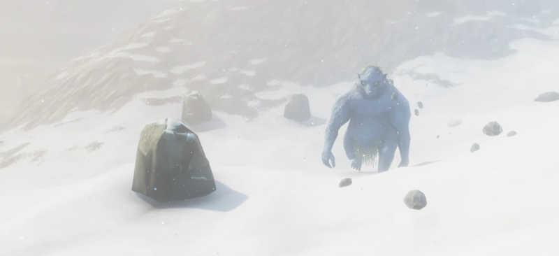 valheim mountain neve rocce troll