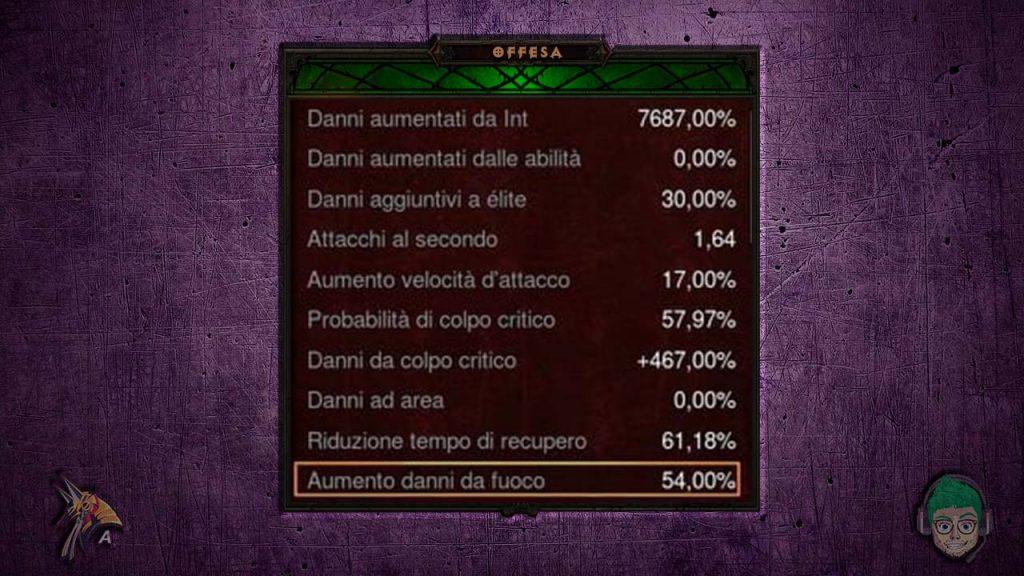 Diablo road to 100 mago set fenice ps4 stats