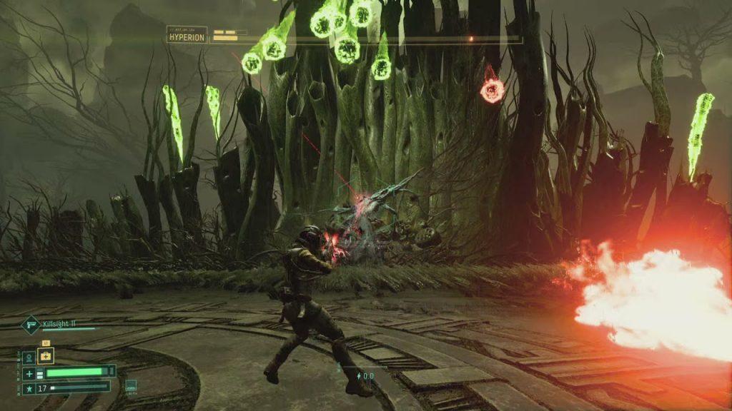 come funziona l'adrenalina in returnal gameplay boss fight