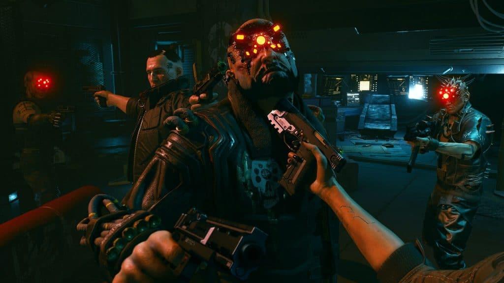 cyberpunk 2077 su playstation pistola