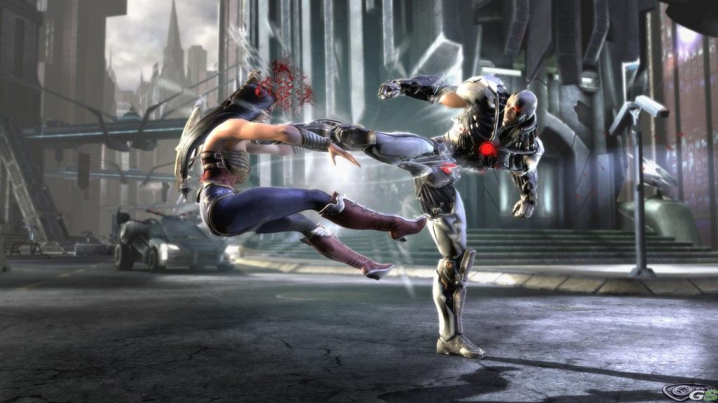 film animato su injustice gods among us combattimento gameplay