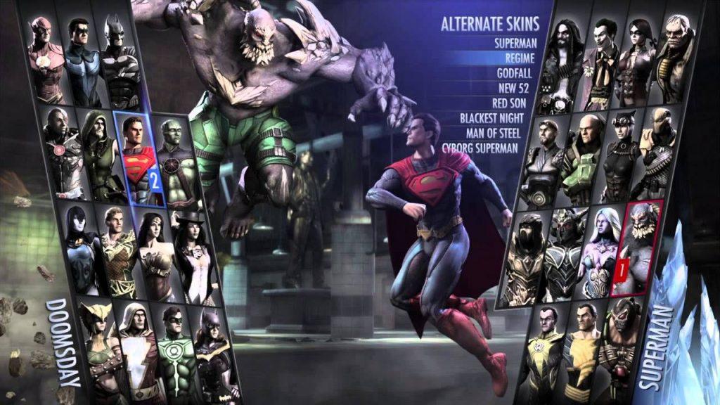 film animato su injustice gods among us selezione personaggio