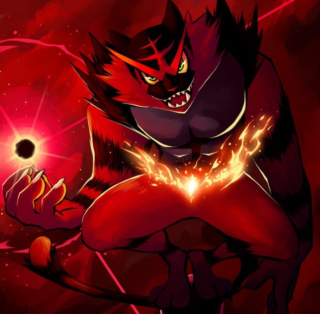 incineroar fan art pokemon