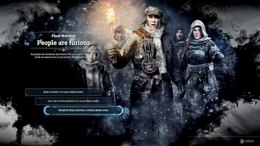 Frostpunk People Are furious Scenario