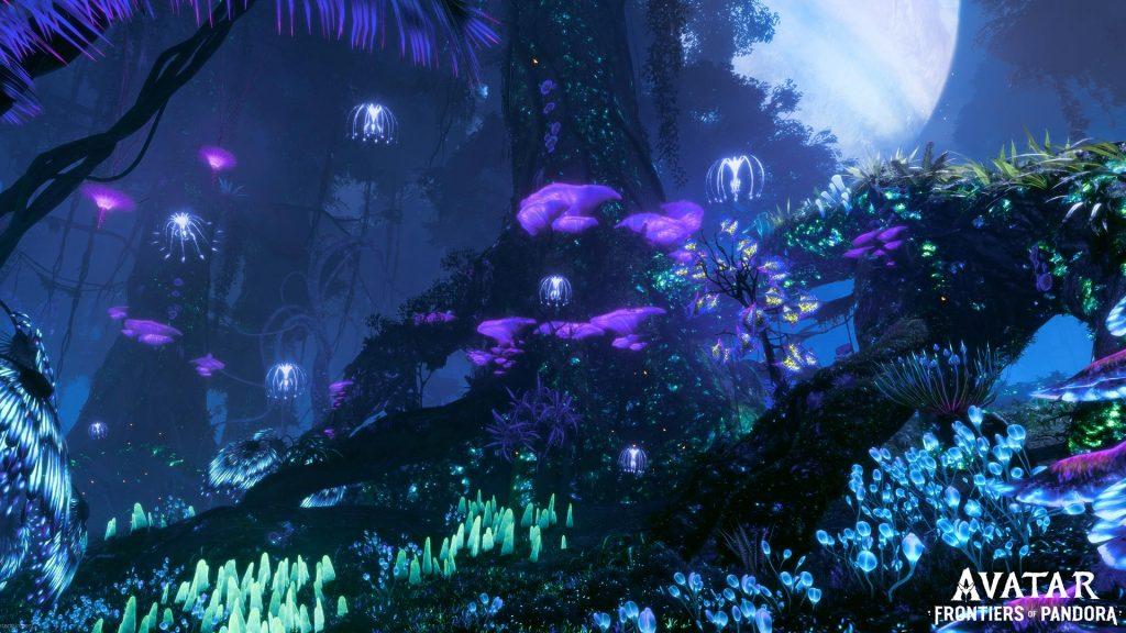 avatar frontiers of pandora foresta di notte