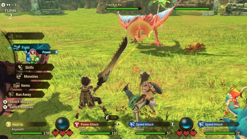 monster hunter stories 2 gameplay combattimento