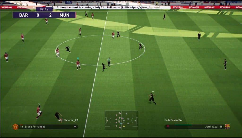 pes 2022 alpha gameplay