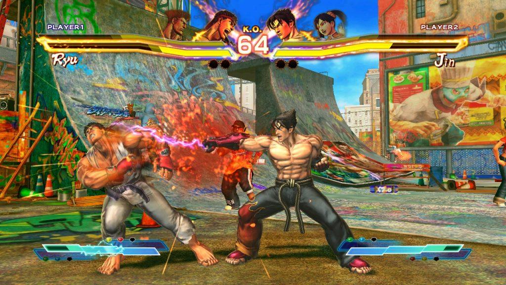 tekken x street fighter cancellato ryu jin kazama