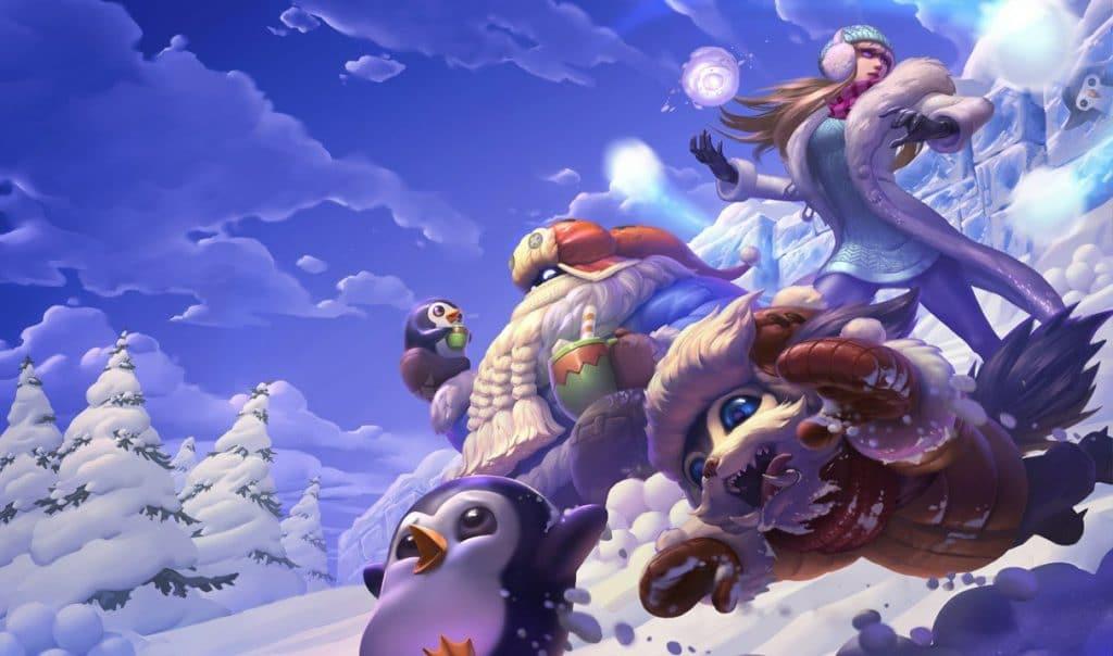 LoL Clash Bard della Nevicata splash art