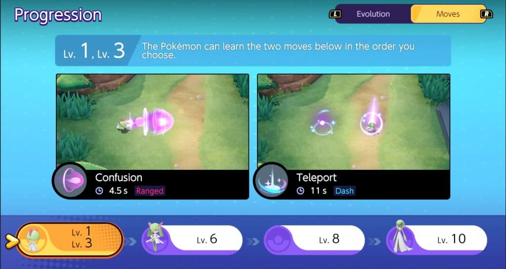 Gardevoir Pokemon Unite guida mosse 1