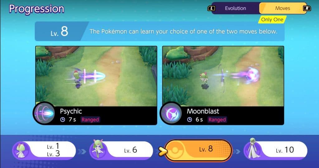 Gardevoir Pokemon Unite guida mosse 3