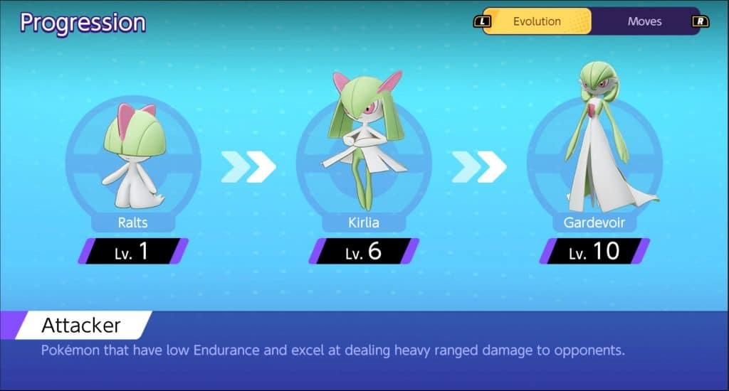 Gardevoir Pokemon Unite guida progressione