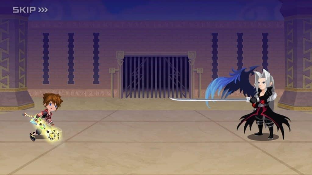 Kingdom Hearts Union X sephiroth sora